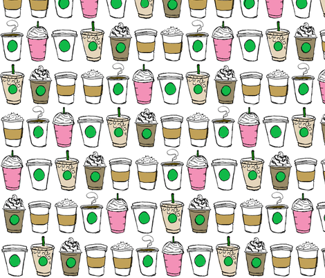 Coffee To-Go  fabric by geekygamergirl on Spoonflower - custom fabric