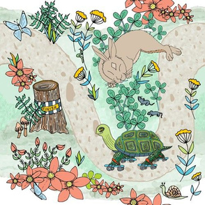 Tortoise Rollerskating, Hare in Clover