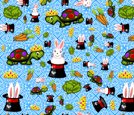 AB-TurtleKingMagicRabbit fabric by alexa_bee on Spoonflower - custom fabric