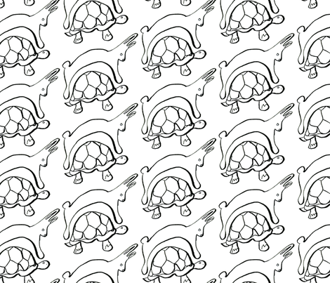 Slow and Steady fabric by copapod on Spoonflower - custom fabric