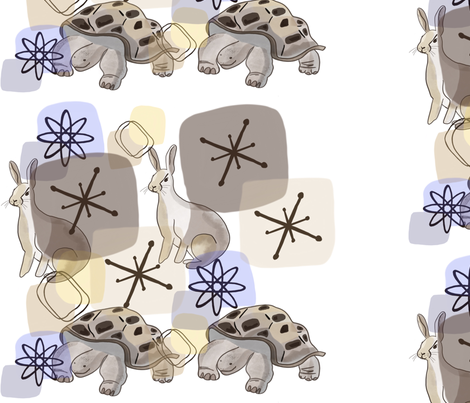 The Tortoise and The Hare fabric by dainty_apples on Spoonflower - custom fabric