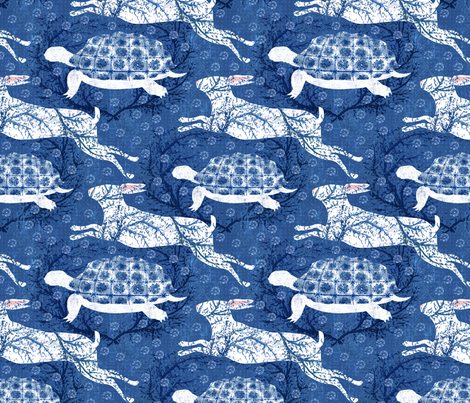 Tula and Pierre are my tortoise and Hare fabric by pattyryboltdesigns on Spoonflower - custom fabric