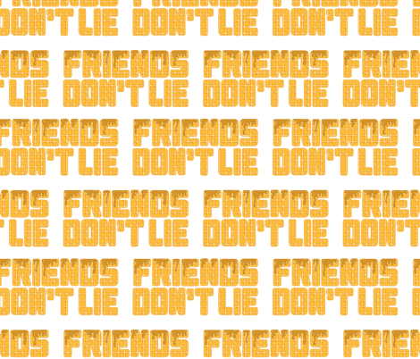 friends don't lie eggo syrup white fabric by b0rwear on Spoonflower - custom fabric