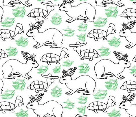 tortois and hare mates fabric by zuzana_kokkinou on Spoonflower - custom fabric