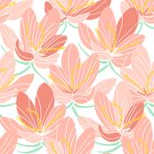 Peach Crocus Joy (white)