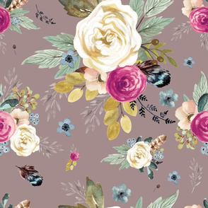 "12"" Western Autumn / More Florals / Taupe"