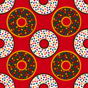 Donuts with Rainbow Sprinkles
