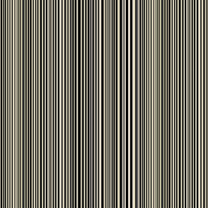 Uneven stripes - black-cream