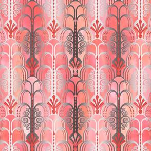 Art Deco Pattern peach