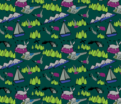 The explorers  fabric by k&b_designs on Spoonflower - custom fabric