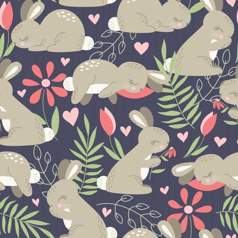 Bunny Garden fabric by noondaydesign on Spoonflower - custom fabric