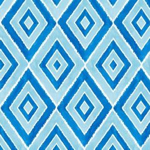 Ikat Diamonds - blue