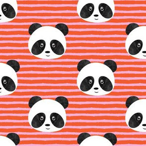 pandas on stripes