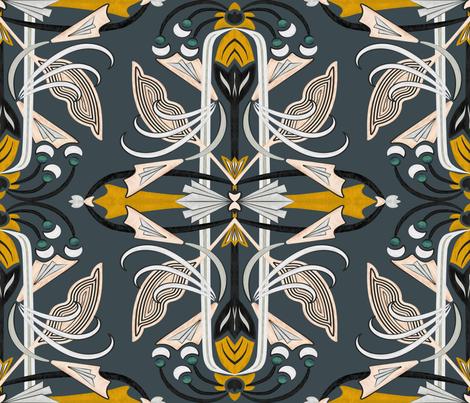 Artdeco Flowers fabric by chawandesign on Spoonflower - custom fabric