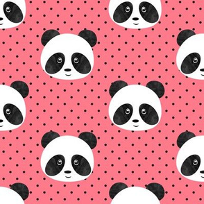 pandas on polka dots