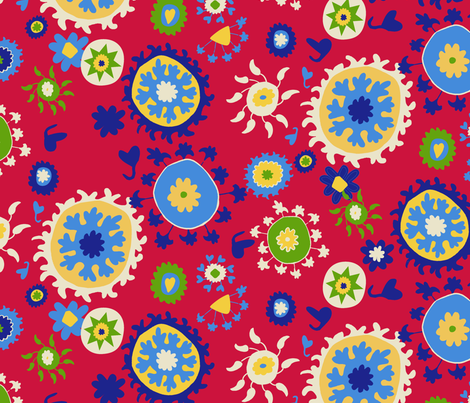 Suzani Overall Pattern fabric by kristin_nicholas on Spoonflower - custom fabric