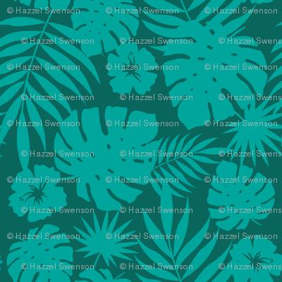 Hawaiian Leaves (green)