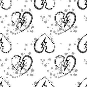 broken hearts grey