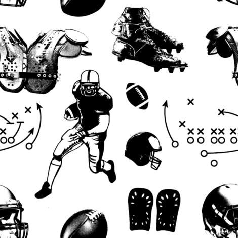 American Football // Large fabric by thinlinetextiles on Spoonflower - custom fabric