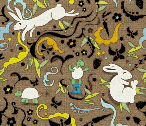 Slow and Steady  fabric by jacquelynbizzottodesign on Spoonflower - custom fabric