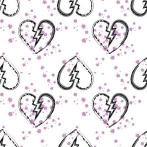 Broken hearts pink