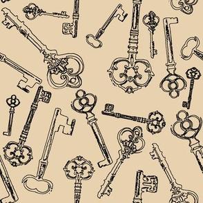 Stylized Antique Keys // Manilla // Large