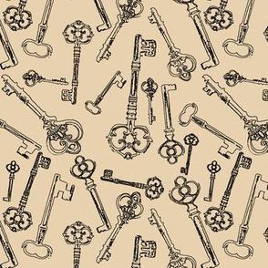 Stylized Antique Keys // Manilla // Small