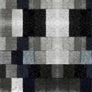 Fuzzy Black and Gray Rectangles