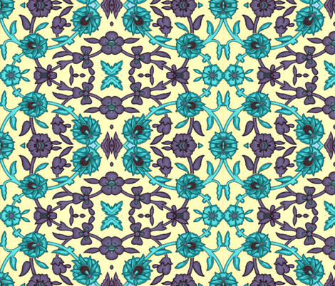 indo-persian 342 fabric by hypersphere on Spoonflower - custom fabric