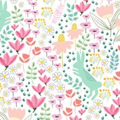 Rspoonflower_bunny1_coral-mint_shop_thumb