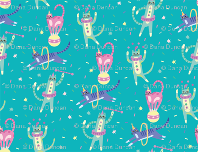 Circus Cats! in Blue
