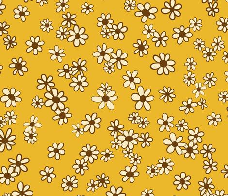 Daisy, Daisy, Gimmie Your Answer Do fabric by paula_ohreen_designs on Spoonflower - custom fabric