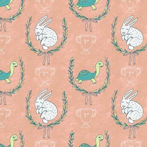 Tortoise & Hare Nursery - Peach