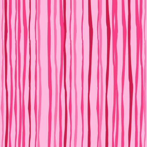 Pink Stripes Vertical fabric by sarah_treu on Spoonflower - custom fabric
