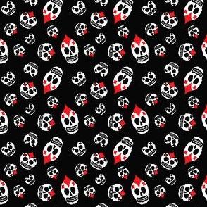 spades sugar skulls on black
