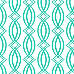 Oxford Trellis Turquoise