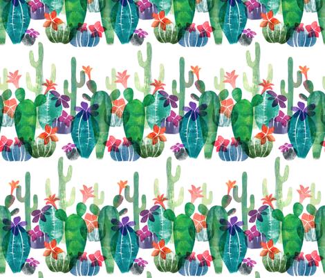Blooming Desert fabric by honey_gherkin on Spoonflower - custom fabric