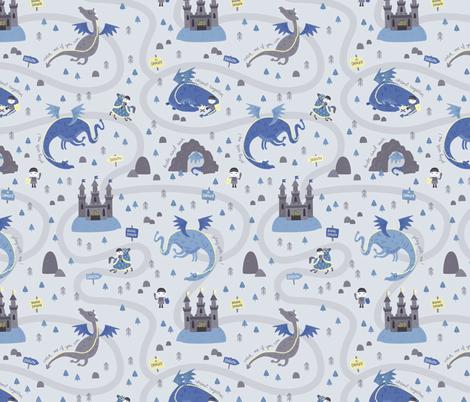 Beware Dragon fabric by ewa_brzozowska on Spoonflower - custom fabric