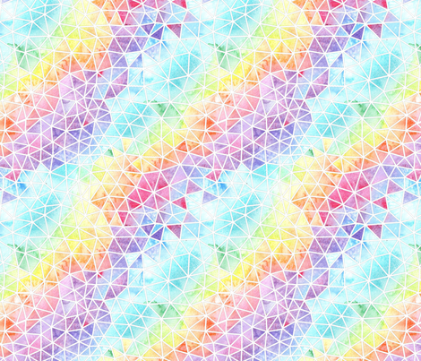 Rainbow Mosaic fabric by emeryallardsmith on Spoonflower - custom fabric