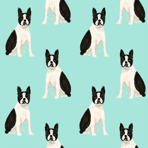boston terrier quilt coordinates sitting dog nursery dog fabric