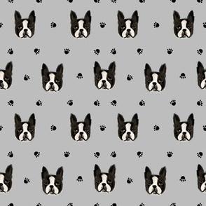boston terrier quilt coordinates dog heads nursery dog fabric
