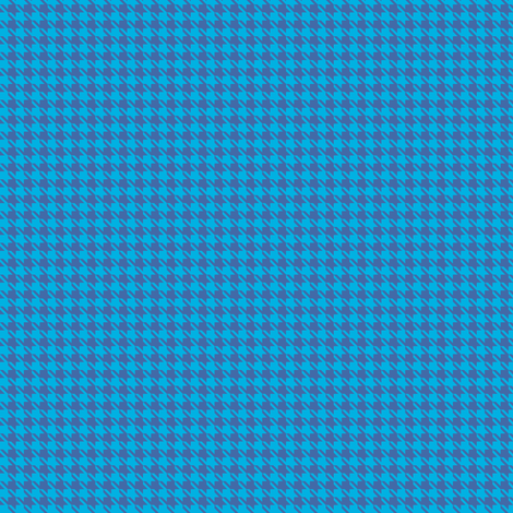 Tiny Blue on Blue Houndstooth fabric by micklyn on Spoonflower - custom fabric