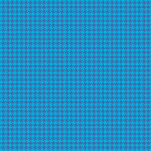 Tiny Blue on Blue Houndstooth