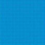 Tiny Blue on Blue Houndstooth