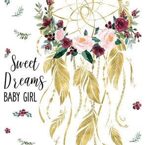 "42""x72"" Sweet Dreams Baby Girl Wild at Heart"