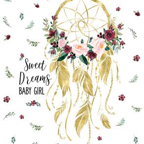 "54""x72"" Sweet Dreams Baby Girl Wild at Heart"