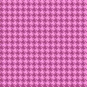 Small Pink on Plum Houndstooth