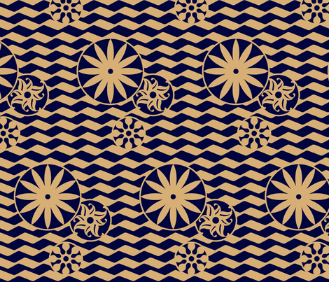 artdeco fabric by wunderartig on Spoonflower - custom fabric