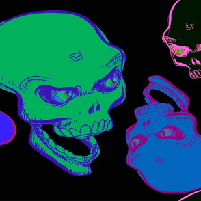 Grinning skull 21feb18  2018 by Edward Huse