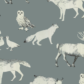 winter animals (grey)